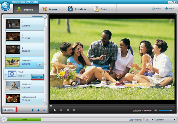 DVD Creator software, DVD Burner - Main Screenshot